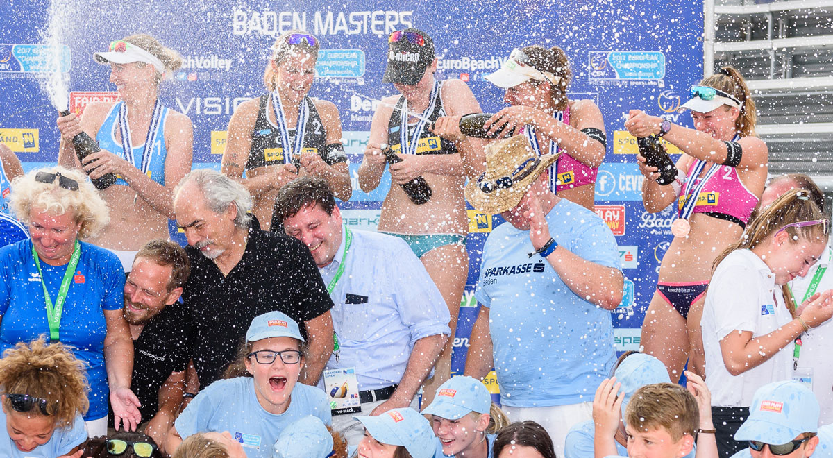 Foto: Beachvolleyball-Baden-Finale-Damen